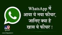 WhatsApp માં આવ્યું નવું ફીચર્સ, જાણો આ ફીચર્સની સંપૂર્ણ માહિતી! જુઓ VIDEO