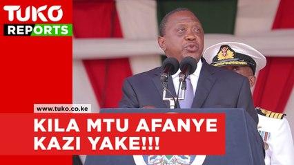 President Uhuru Kenyatta warning to civil servants during Jamuhuri celebrations
