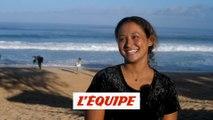 la réaction de Vahine Fierro à l'annonce du surf à Tahiti aux JO 2024 - Adrénaline - Surf