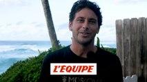 la réaction de Jérémy Florès à l'annonce du surf à Tahiti aux JO 2024 - Adrénaline - Surf