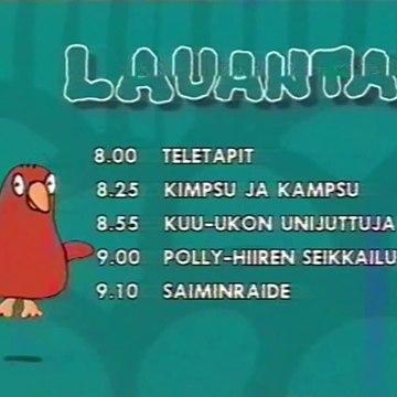 YLE TV1 - Veturin Ohjelmatiedot ja Kuulutus (24.10.1998)