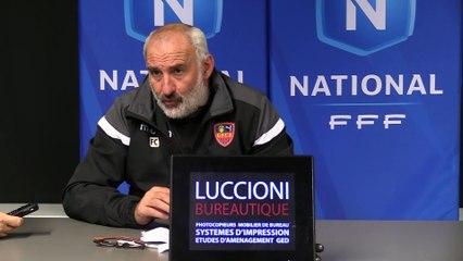 Vidéo - le point presse du coach F. Ciccolini avant la réception de Béziers