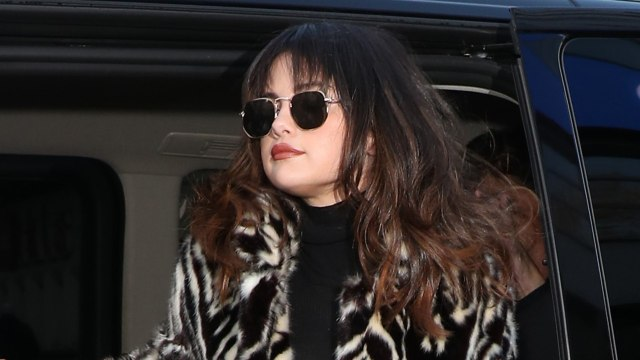 Selena Gomez Shag Haircut With Bangs