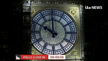 Exit poll predicts a large Conservative majority