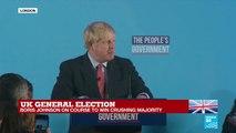 UK General election: Boris Johnson speaks live after landslide victory
