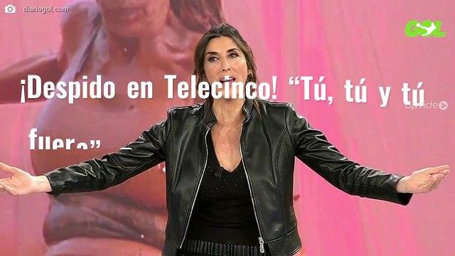 """¡Despido en Telecinco! """"Tú, tú y tú fuera"""". Paz Padilla y Gema López ¡tragan saliva!"""