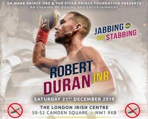 Robert Duran Jr Sends Message To UK Fans Ahead of 21st December London Fight