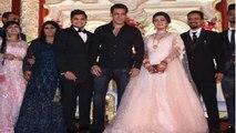 Salman Khan attends wedding reception of make-up man's son