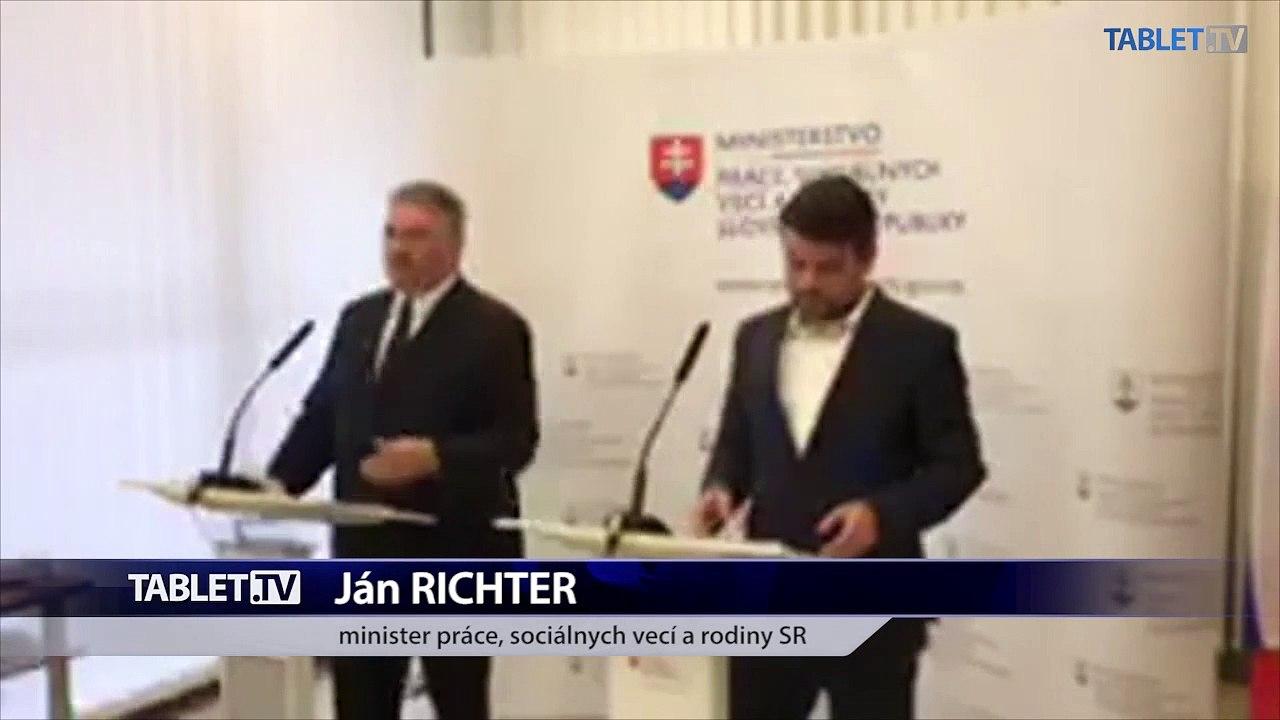 ZÁZNAM: TK ministra práce, sociálnych vecí a rodiny SR Jána Richtera