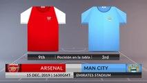Match Preview: Arsenal vs Man City on 15/12/2019