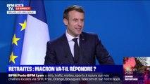 """Retraites: Emmanuel Macron souhaite que """"le gouvernement poursuive son travail et avance"""""""