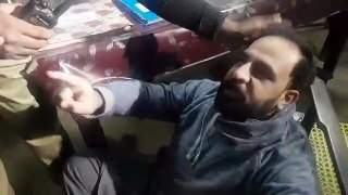 people party worker protest against shiekh rasheed