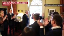 British Prime Minister Boris Johnson Receives Huge Welcome From Staff After UK Election Win