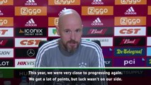 Bad luck to blame for Ajax's Champions League woes- Ten Hag