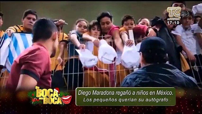 VIDEO | Polémico trato que dio Maradona a niños que le pedían un autógrafo