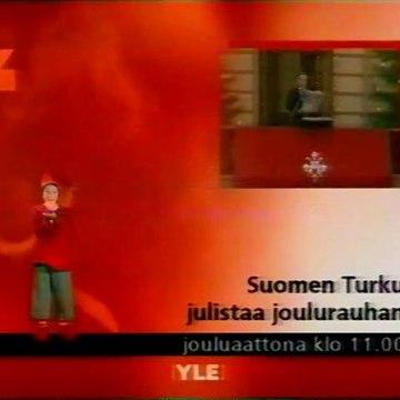 YLE TV1 - Tulevia Ohjelmia / Ohjelmatiedot (24.12.2001)