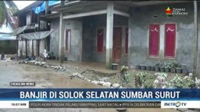 Banjir di Solok Selatan Surut