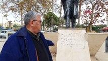Atatürk Anıtı'na çirkin saldırıya tepki