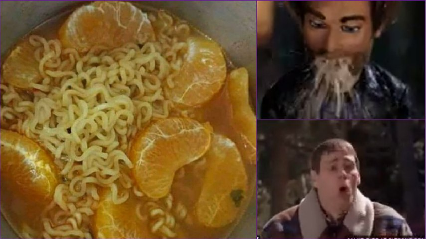 Ew, Dish that combines instant noodles with oranges is going viral