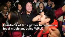 Young Chicagoans rap and dance to memorialize Juice WRLD