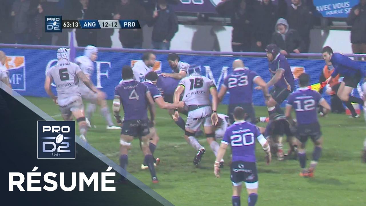 PRO D2 - Résumé Angoulême-Provence Rugby: 19-15 - J14 - Saison 2019/2020