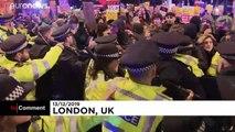 Manifestation contre les résultats des législatives britanniques