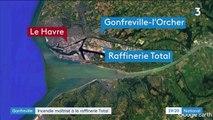 Seine-Maritime : la raffinerie Total dévastée par un incendie