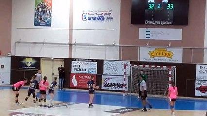 Handball   N1F 2019/2020   Epinal égalise au buzzer devant la réserve de Dijon (33-33)