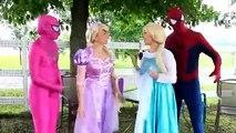Frozen Elsa & Spiderman, Anna, Spidergirl, Joker, Funny Video