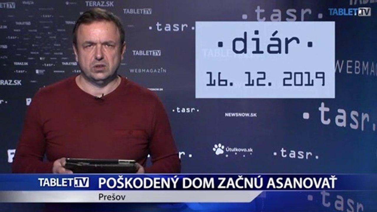 DIÁR: Poškodený dom v Prešove začnú asanovať