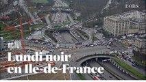Cinq webcams filment les bouchons monstres en Ile-de-France la veille du 17 décembre