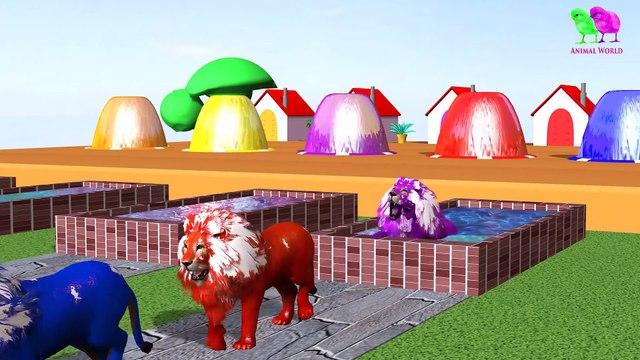 Los animales de granja y sus crías se transforman en animales salvajes y sus crías -13 parte 13