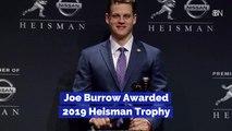 Joe Burrow Takes The Heisman Trophy