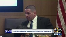 Jurors deliberating in trooper shooting case