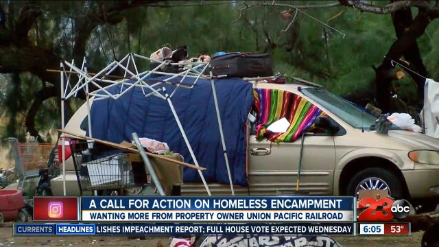 Bakersfield city and county officials unable to remove homeless encampment due to jurisdiction