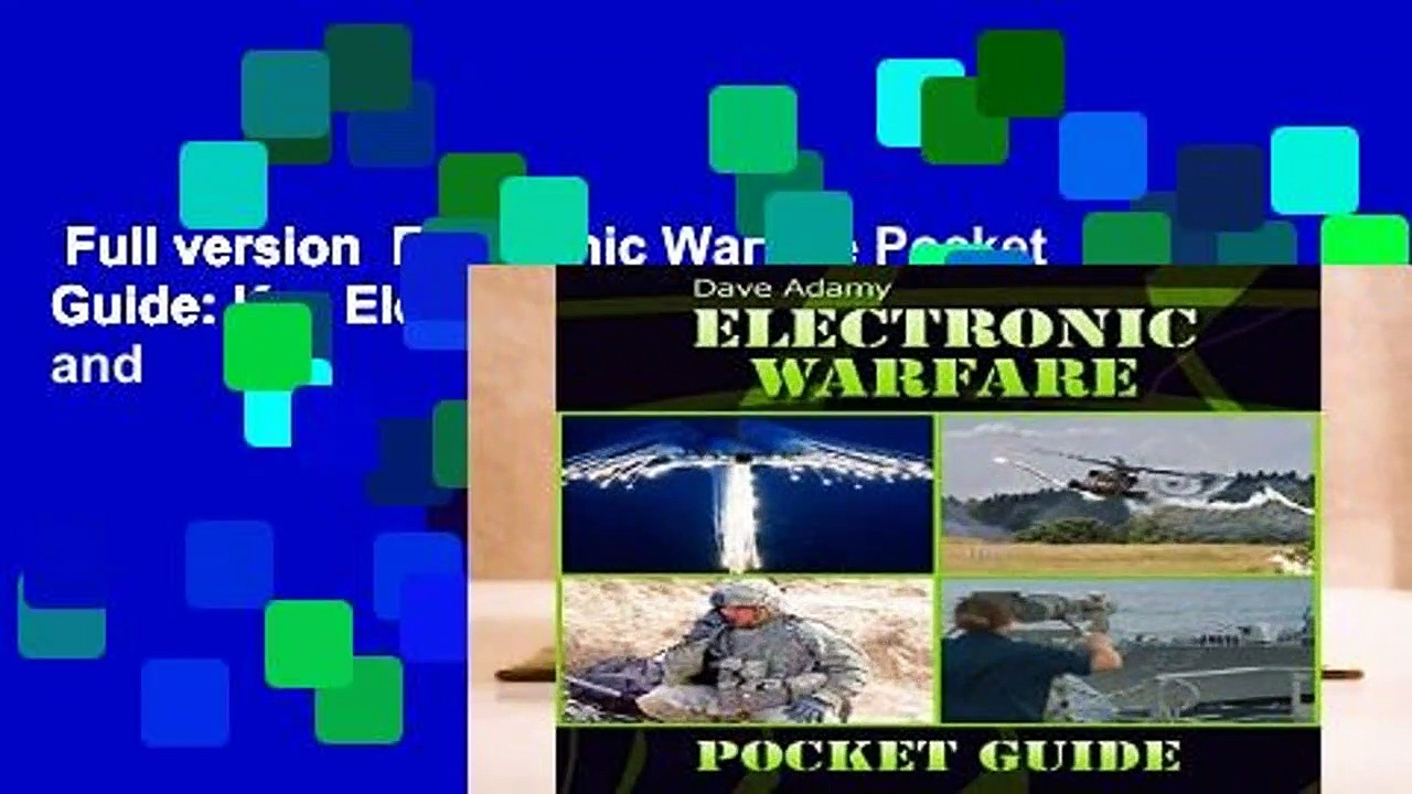 Full version  Electronic Warfare Pocket Guide: Key Electronic Warfare Definitions, Concepts and
