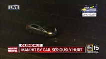Man hit by car in Glendale, seriously hurt