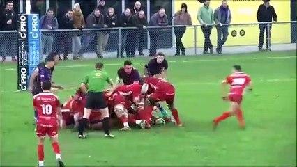Rugby - Le tchik tchak monstrueux de Thomas Hecquet (Chambéry) contre Issoire