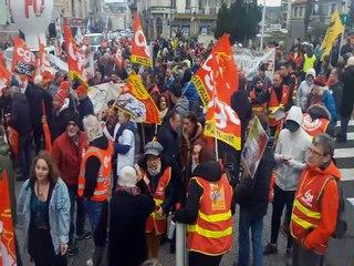 Manifestation contre la réforme des retraites au Puy-en-Velay