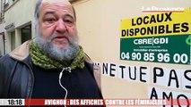 Avignon : des affiches  contre les féminicides