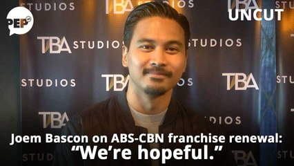 """Joem Bascon, on ABS-CBN franchise renewal issue: """"We're taking it calmly."""" 