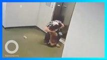 狗狗沒進電梯命懸一線 好心男及時神救援