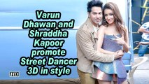 Varun Dhawan and Shraddha Kapoor promote Street Dancer 3D in style