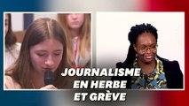 Manon, 14 ans, demande à Sibeth Ndiaye si elle pourra retourner chez elle avec la grève