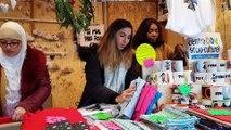 Au marché de noël avec Jamila Blibli, responsable pole jeunesse du csc Porte du Miroir.