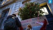 Des élèves bloquent l'accès à leur lycée à Paris