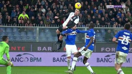 'Air' Cristiano Ronaldo scores winner against Sampdoria