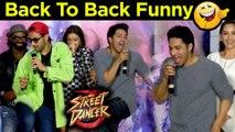 Varun Dhawan Shraddha Kapoor BACK TO BACK Fun Moments Street Dancer 3D Trailer Launch