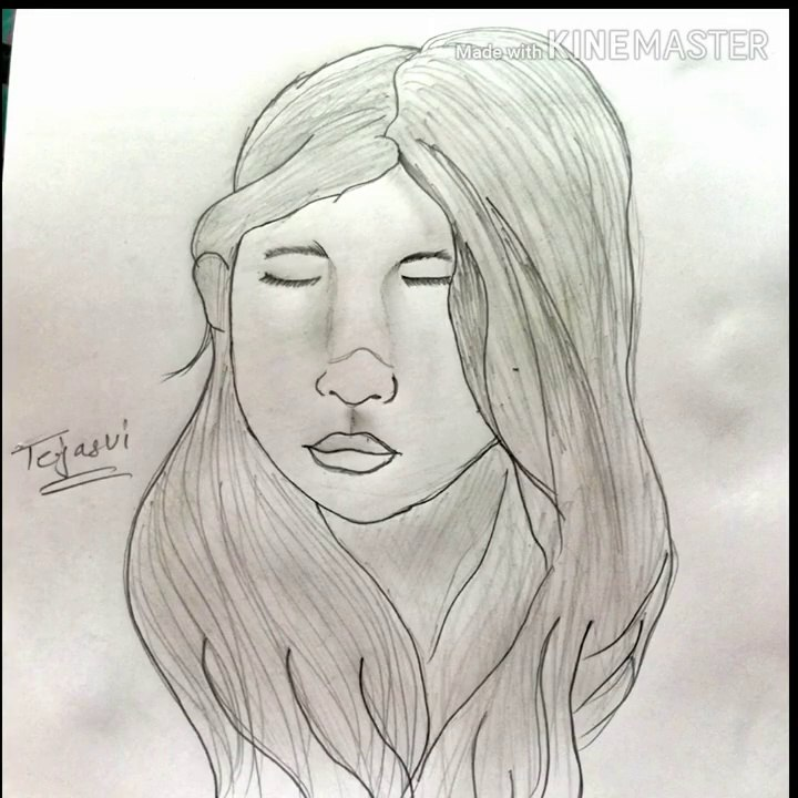 How To Easy Draw A Pencil Sketch Of Beautiful Girl Face Video Dailymotion