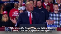 Trump Attacks Democratic Rep. Debbie Dingell, Suggests Her Late Husband Is 'Looking Up' From Hell
